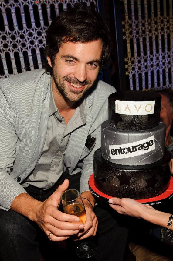 Rhys Coiro with cake at LAVO