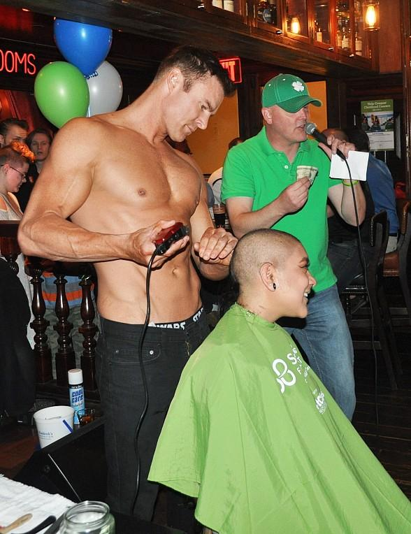Rí Rá Las Vegas Raises more than $8,000 during its Annual St. Baldrick's Fundraiser with KLUC 98.5's Chet Buchanan and cast members from Aussie Heat