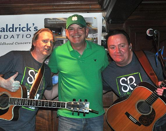 The Black Donnellys and Chet Buchanan at Ri Ra's St. Baldrick's fundraiser