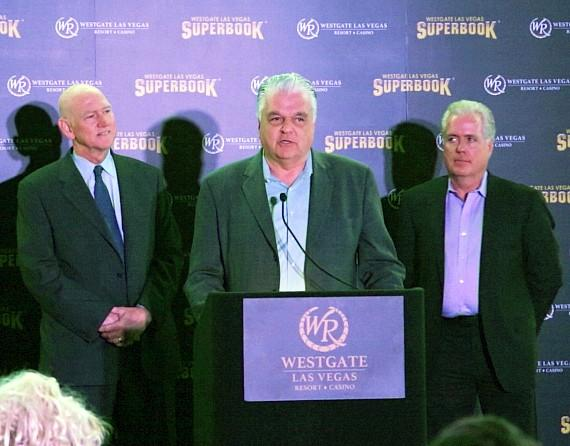 Commissioner Larry Brown, Commissioner Steve Sisolak and COO of Westgate Resorts Mark Waltrip