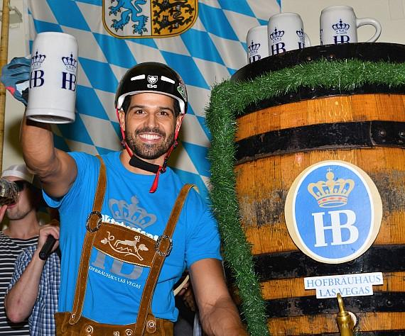 Ricardo Laguna hosted Oktoberfest on Saturday, Sept. 16