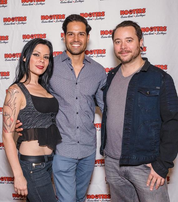 BMX star Ricardo Laguna (c) with AmberLynn and Ryan Stock
