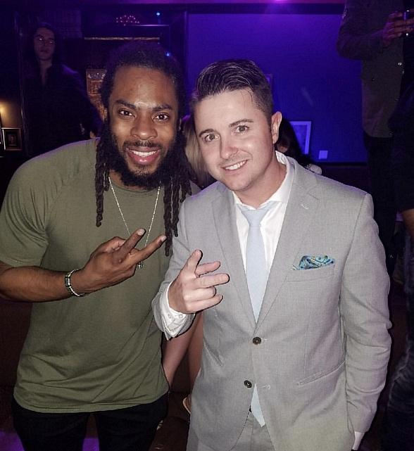 Seattle Seahawks Cornerback Richard Sherman Parties at Hyde Bellagio in Las Vegas