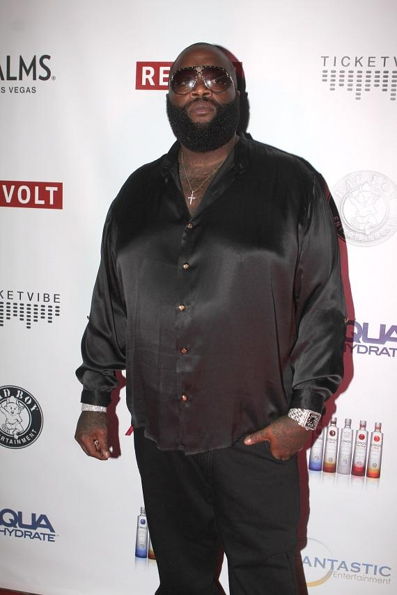 Rick Ross on red carpet at The Palms