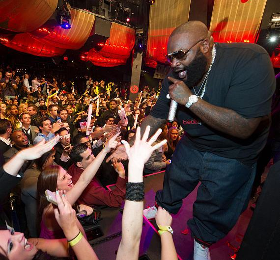 Rick Ross performs at Marquee for Beats by Dre party