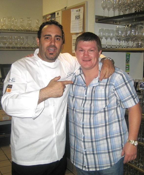 Ricky Hatton and Chef Barry