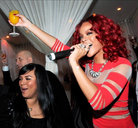 Rihanna rings in 2011 at PURE Nightclub