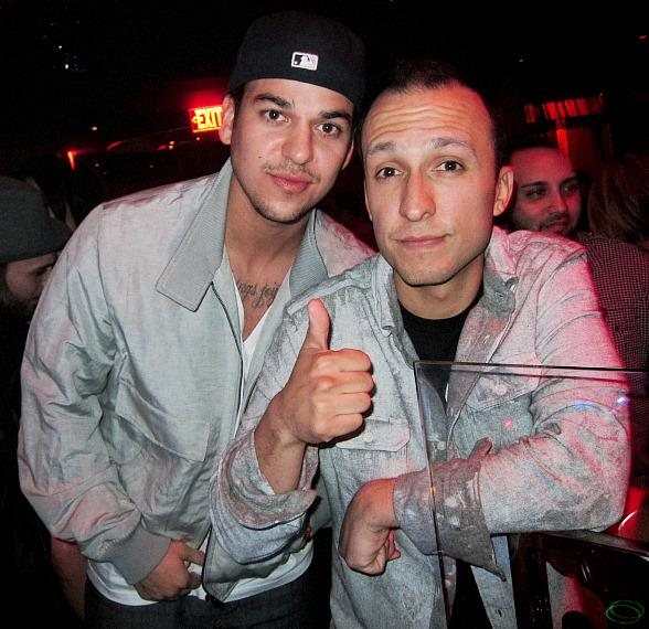 Rob Kardashian and DJ Vice at Marquee