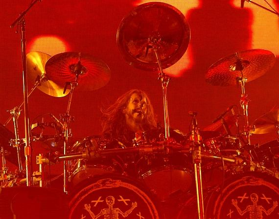 Rob Zombie drummer Ginger Fish at Rock Vegas Festival at Mandalay Bay