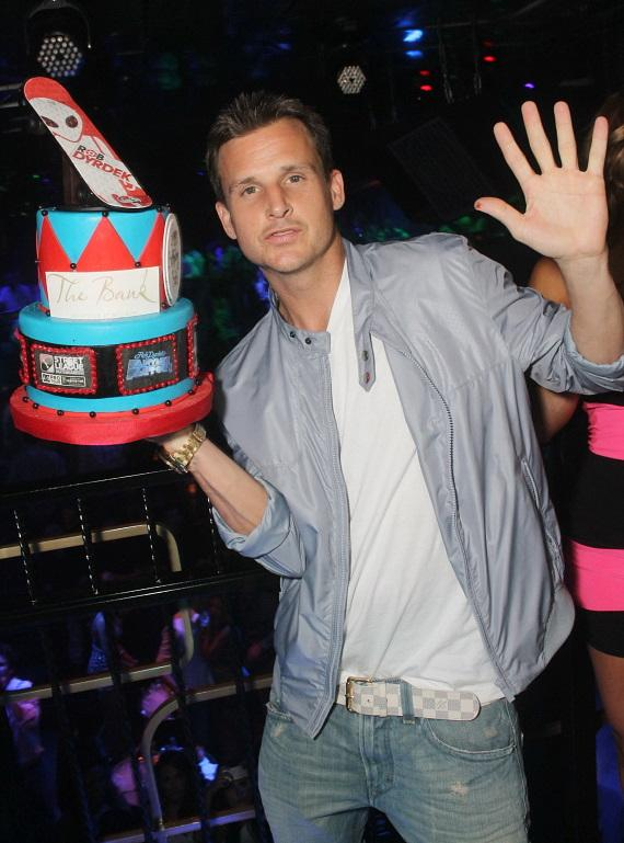 Rob Dyrdeck with birthday cake at The Bank in Las Vegas