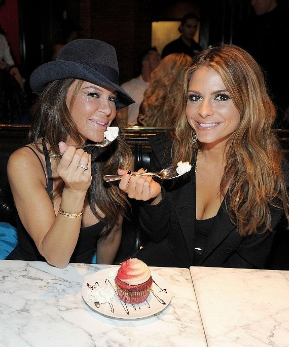 Robin Antin and Maria Menounos indulge in sweets at Sugar Factory American Brasserie