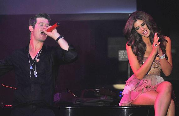 Robin Thicke and Hope Dworaczyk, Playboy's 2010 Playmate of the Year