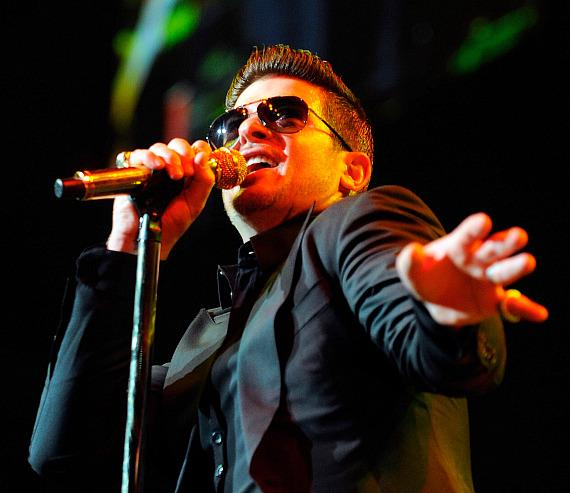 Robin Thicke performs at Pearl Concert Theater at Palms Casino Resort in Las Vegas
