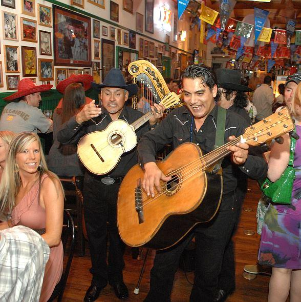 Rock n Roll Mariachis at Hussong's Cantina on Cinco de Mayo