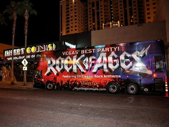 Rock of Ages Bus at Insert Coins
