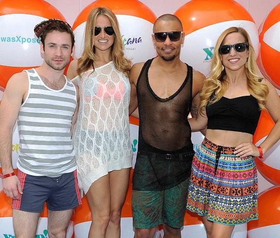 Rock of Ages cast at Xposed! in the Tropicana Beach Club at Tropicana Las Vegas