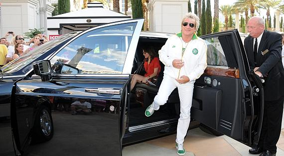 Rod Stewart arrives at The Colosseum at Caesars Palace