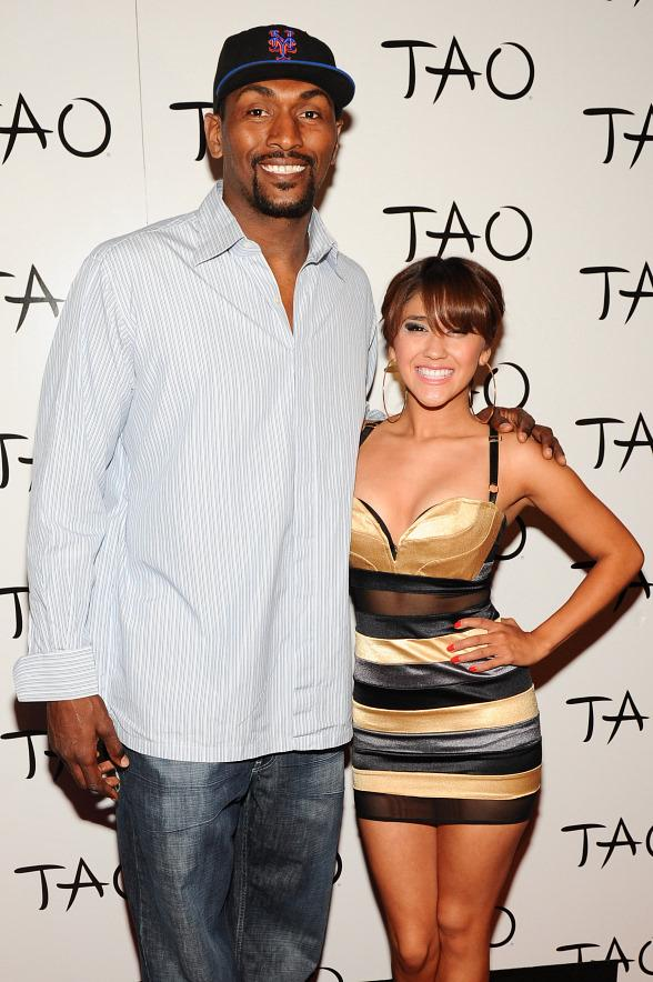Ron Artest and Taz at TAO
