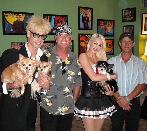 Murray and Chloe with Ron and Robert from Friends for Life Humane Society