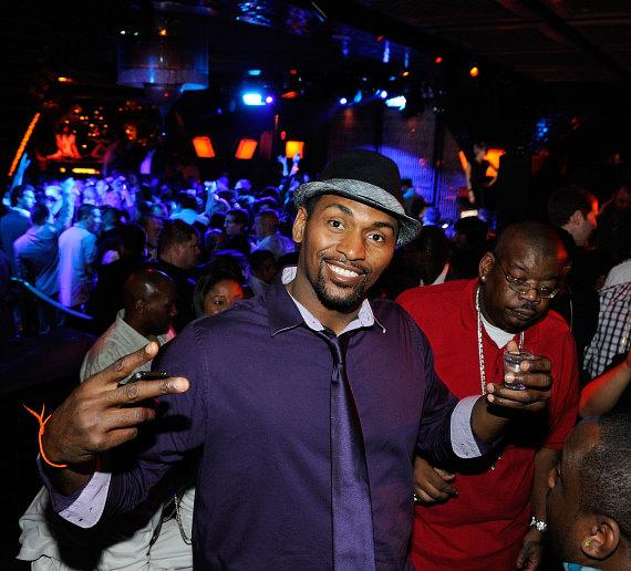 Ron Artest, aka Metta World Peace, celebrates his birthday at LAVO