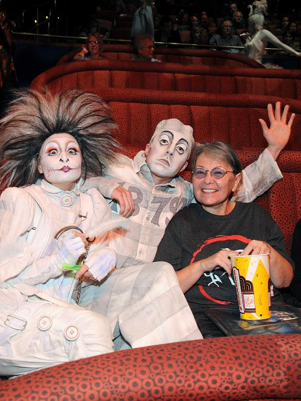Roseanne Barr, Ice-T and Coco at Zarkana by Cirque du Soleil at ARIA Resort in Las Vegas