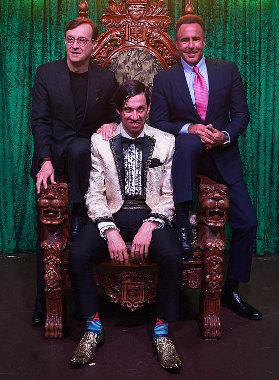 Ross Mollison, The Gazillionaire, Caesars Entertainment CEO Mark Frissora at ABSINTHE Las Vegas