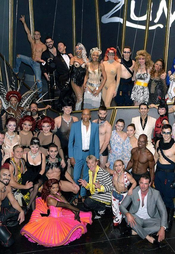 RuPaul Charles attends Zumanity by Cirque du Soleil in Las Vegas