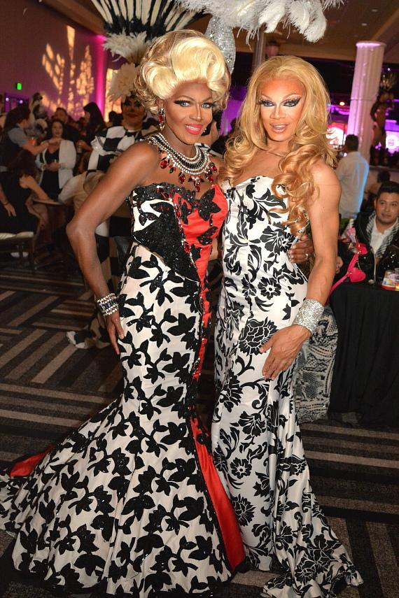 Rupaul's Drag Race Coco Montrese attends the Black & White Party