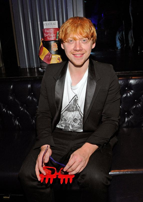 Rupert Grint hanging out in his VIP booth at Chateau Nightclub & Gardens