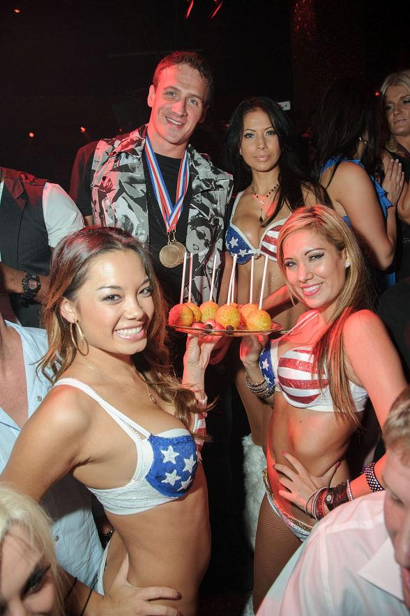 Ryan Lochte Celebrates his Olympic Success at TAO Nightclub