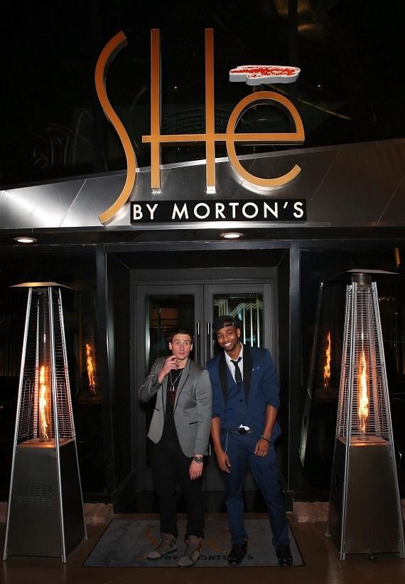Ryan Lochte and Cullen Jones Celebrate New Year's Eve in Las Vegas at SHe by Morton's