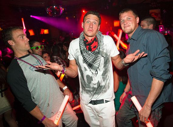 Ryan Lochte with friends at LAVO
