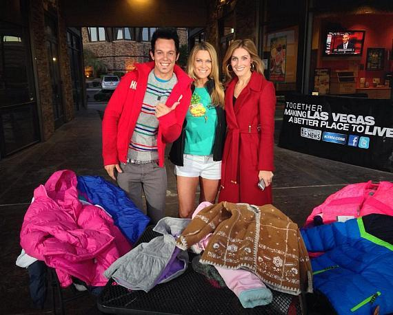 Ryan Vezina from Recycled Percussion Dina Mitchell from TSC and Victoria Spilabotte from KTNV