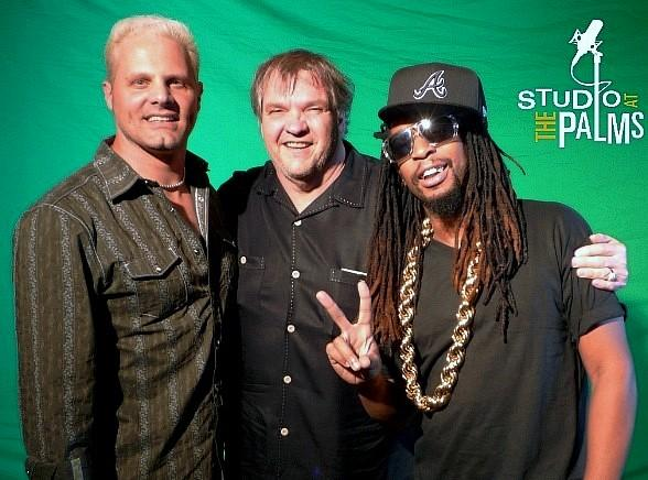 Producer/Meat Loaf's guitarist Paul Crook, Meat Loaf and Lil Jon.