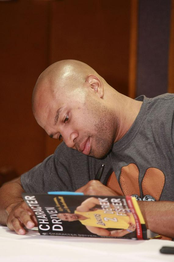 LA Laker Derek Fisher book signing at The Palazzo