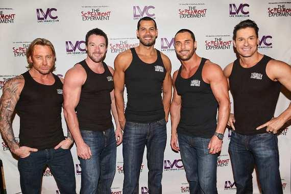 Cast of Australia's Thunder From Down Under at Excalibur