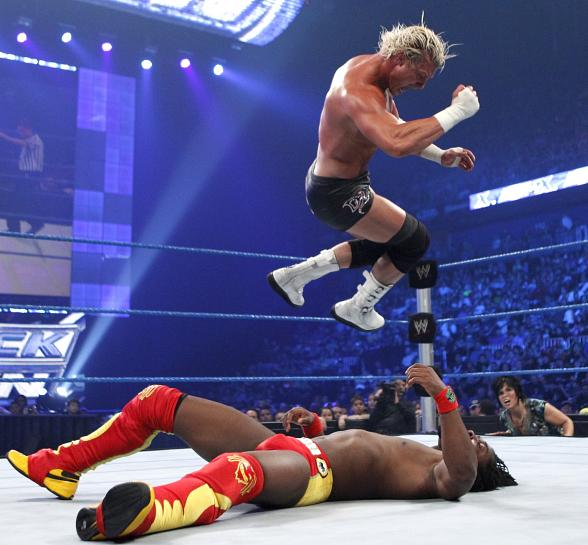Dolph Ziggler and Kofi Kingston in action