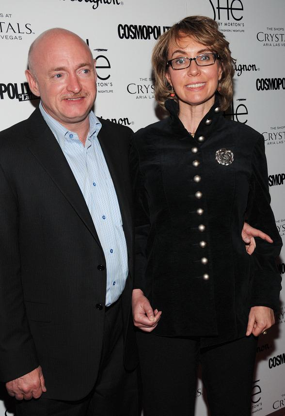 "Mark Kelly and former Congresswoman Gabrielle ""Gabby"" Giffords"