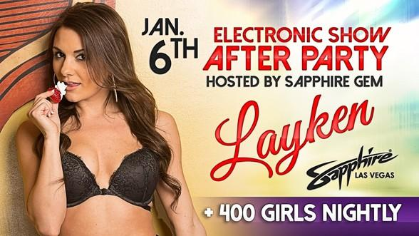 "Sapphire Gem ""Layken"" to Host an Electronics Show After Party at Sapphire, The World's Largest Gentlemen's Club, January 6"