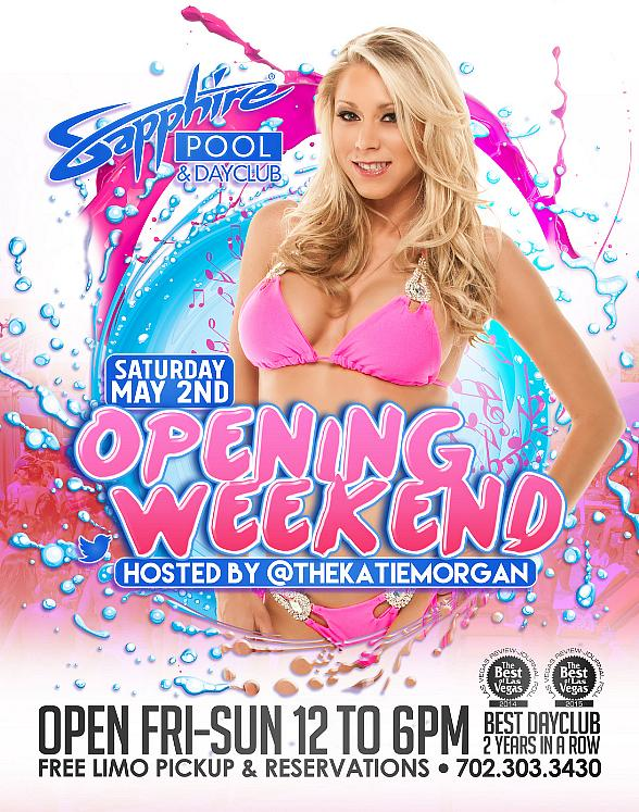 Meet HBO's Katie Morgan during the Opening Weekend of Sapphire Pool & Day Club