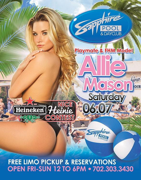 Party with Playmate and FHM Model Allie Mason at Sapphire Pool & Day Club in Las Vegas Saturday, June 7