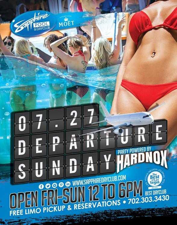 """Sapphire Pool & Day Club to Host """"Departure Sunday"""" in Las Vegas on July 27"""