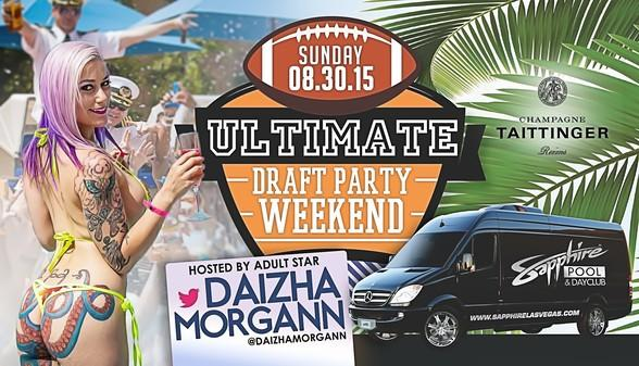 Sapphire Dayclub to host Ultimate Draft Party Weekend with Adult Star Daizha Morgann August 30
