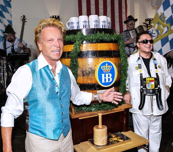Siegfried & Roy Kick Off 12th Annual Oktoberfest at Hofbrauhaus Las Vegas September 18