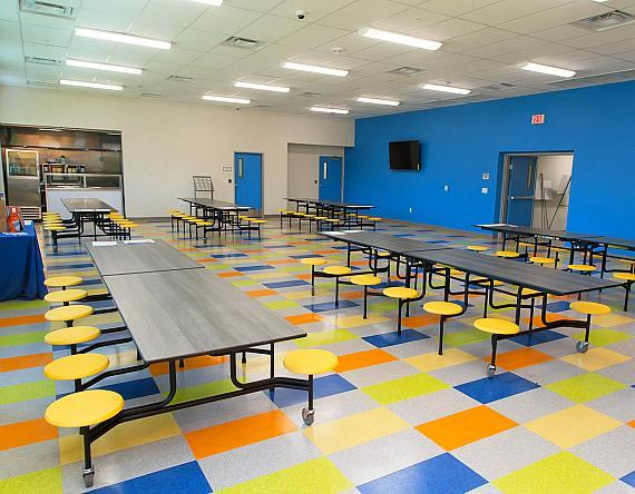 Dining room at Shannon West Homeless Youth Center