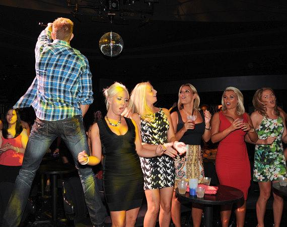Sam & Billie and friends watch the Chippendales show in Las Vegas