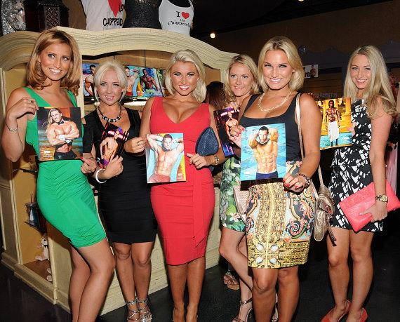 Sam & Billie Faiers with friends at Chippendales in Las Vegas