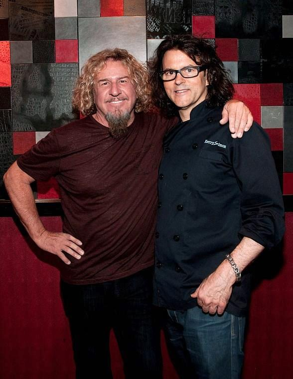 Sammy Hagar and Kerry Simon at KGB: Kerry's Gourmet Burgers
