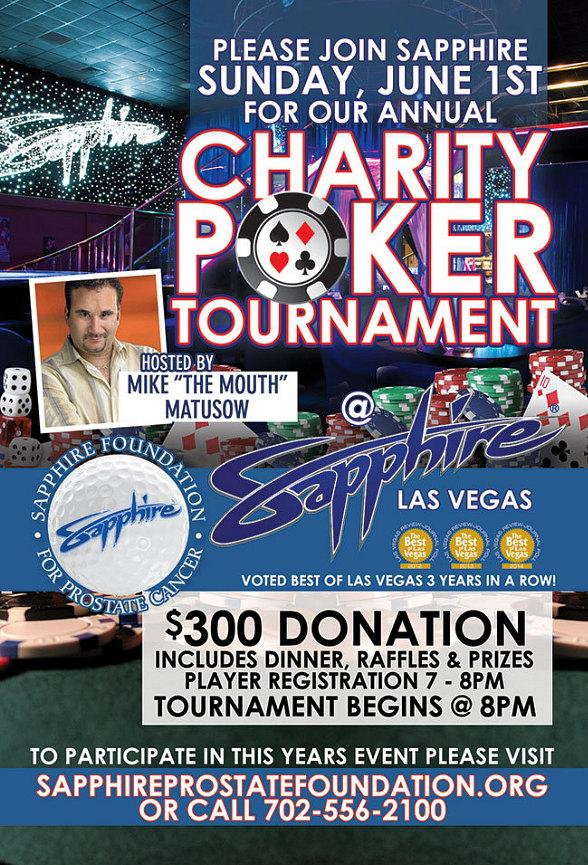 The Sapphire Foundation for Prostate Cancer Invites You to Annual Charity Poker Tournament June 1