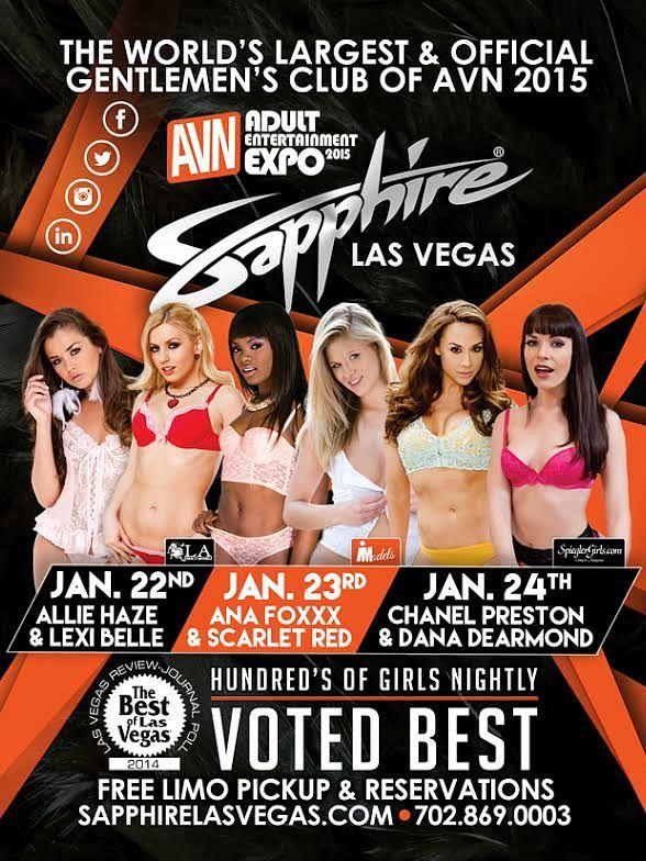 AVN and Sapphire Gentlemen's Club Las Vegas Team Up for Three Nights of AEE Parties Jan. 22-24